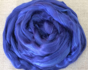 Royal Blue Dyed Bamboo Roving Vegan  Fiber 100 gr Spin Flora plant fibre combed top viscose doll hair needlefelt spinning Free Shipping