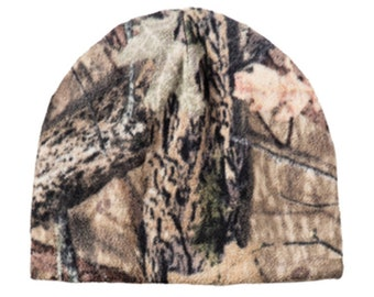 77ef66cd9a1 CUSTOM Camouflage Fleece Beanie Embroidered