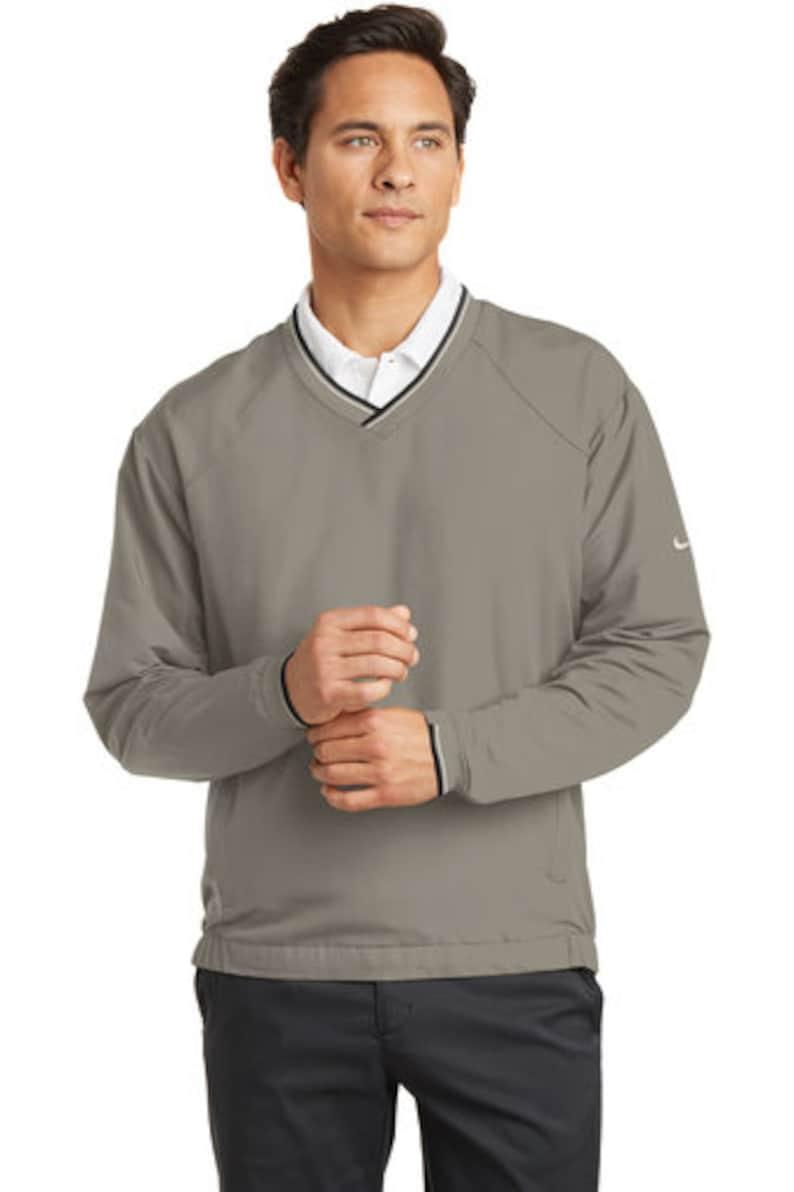 9990d0cb9 Custom Nike V-Neck Wind Shirt / Custom Nike Men's Shirt / | Etsy