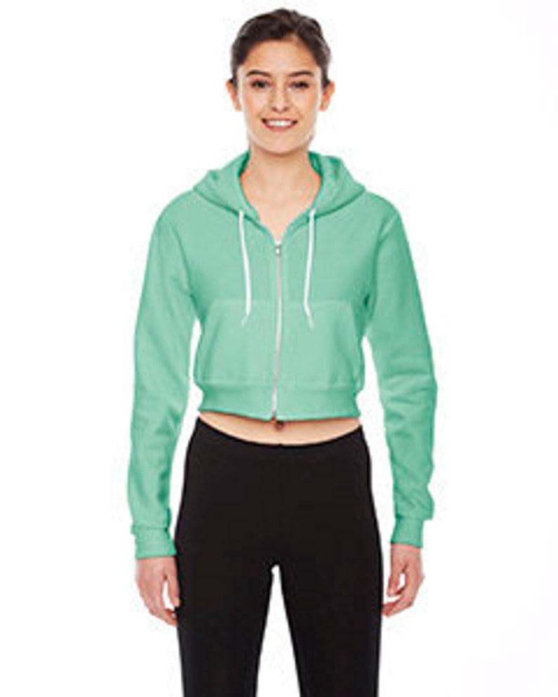 7b5fb15a333eb Custom Ladies' Cropped Flex Fleece Zip Hoodie / Custom Hoodie / Gym Hoodie  / Custom Sport Hoodie / Ladies Custom Sweater /Teen Custom Hoodie