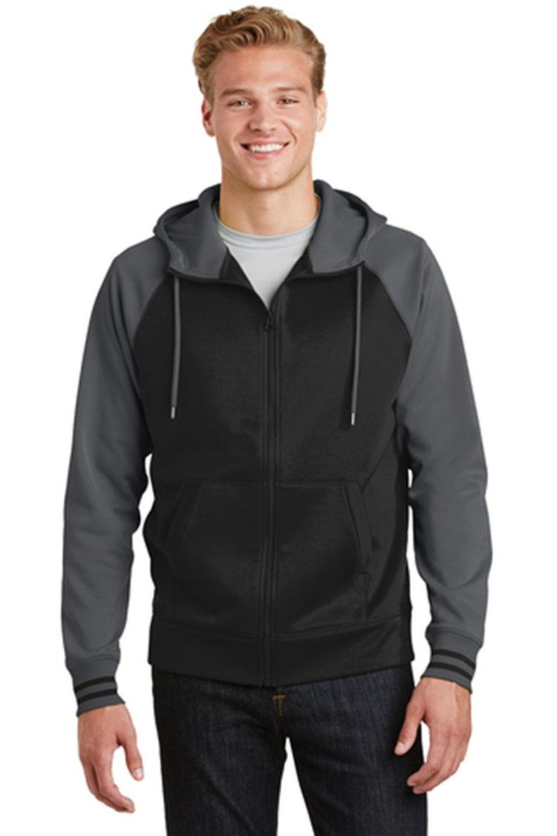 Custom Embroidered LadiesMen Sport-Wick Varsity Fleece Full-Zip Hooded Jacket