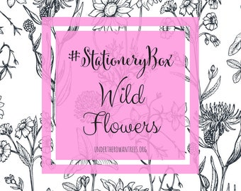 Wild flowers planner subscription, planner stickers, bullet journal, mystery box, stationary, sticky notes, subscription box, surprise box