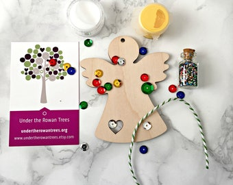 Diy kit self care paint your own fridge magnet butterfly christmas in july angel craft kit childrens craft kit kids craft kit christmas tree decoration christmas ornament diy make your own solutioingenieria Choice Image