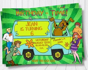 Scooby Doo Invitation Scooby Doo Chalkboard Birthday Party