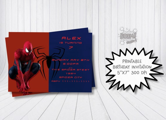 Spiderman Invitation Birthday SpiderMan Party