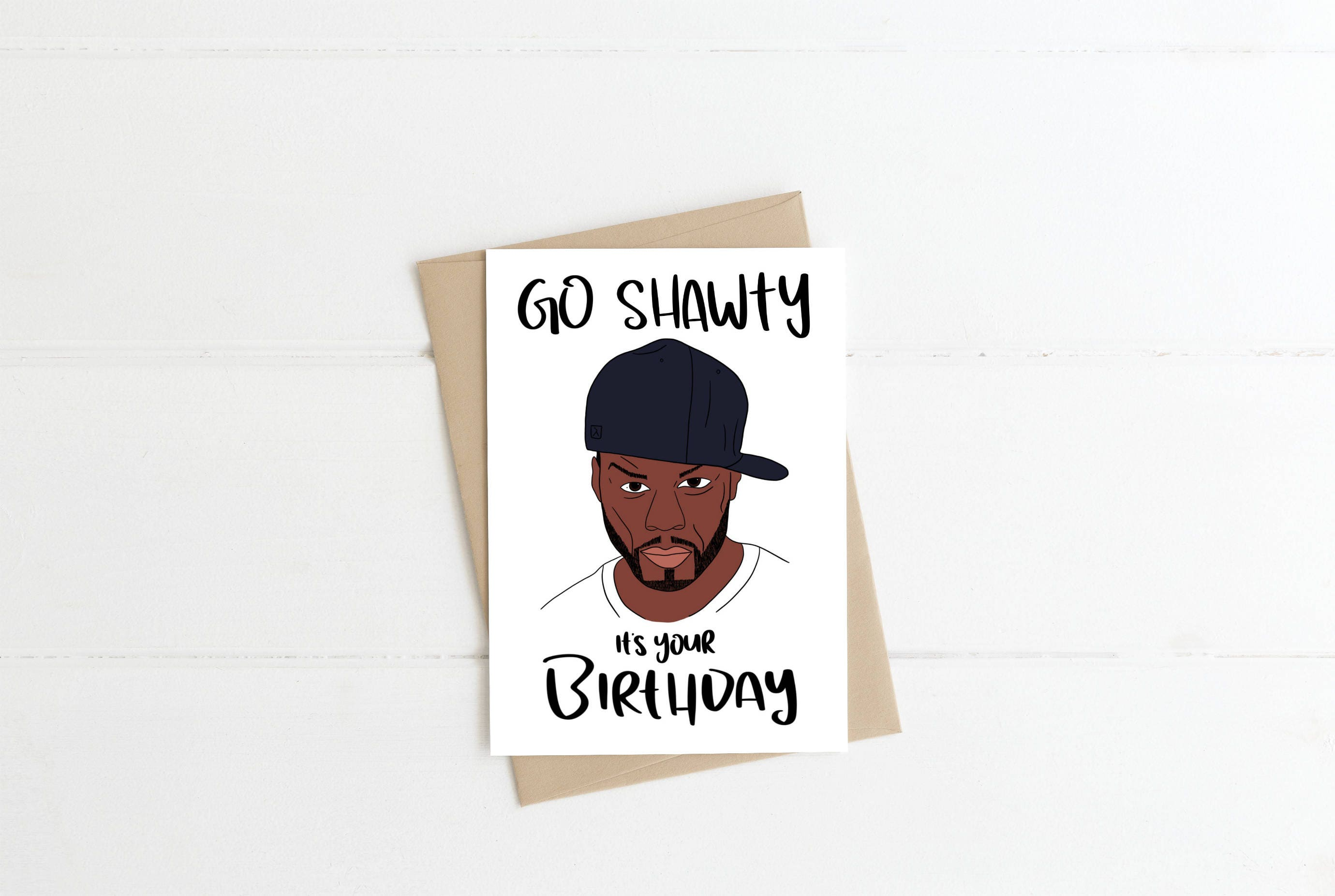 50 cent happy birthday greeting card birthday card song etsy zoom m4hsunfo