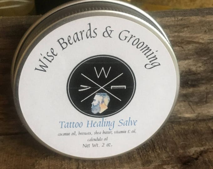 Tattoo Healing Salve - Wise Beards & Grooming - Natural Soothing and Healing Tattoo Aftercare Salve