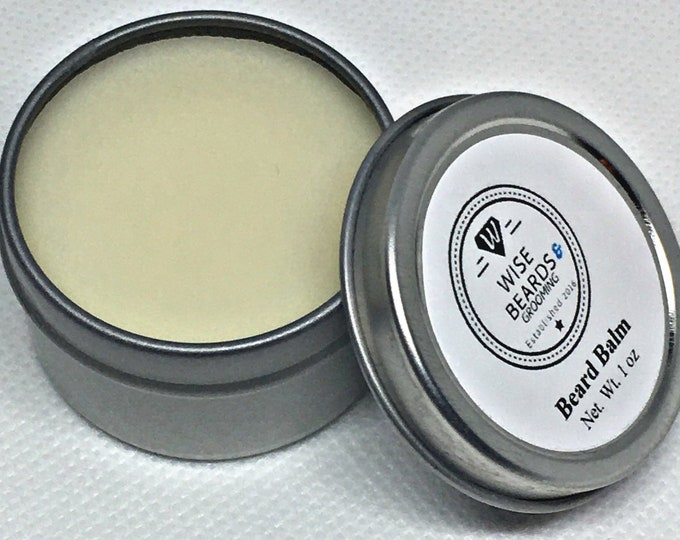 Vegan Beard Balm - Wise Beards & Grooming - Premium Grade Beard Balm - Beard Care Products - Natural Balm - Beard Grooming - Men's Care