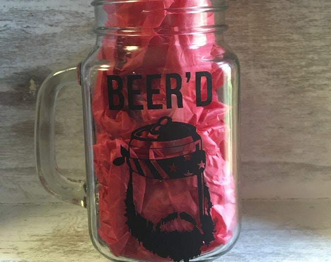 Beer'd Bearded Beer Mug Free Shipping