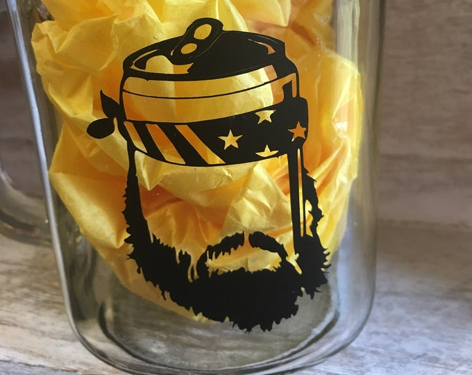 Double Sided Beer'd Beard Beer Mug Free Shipping