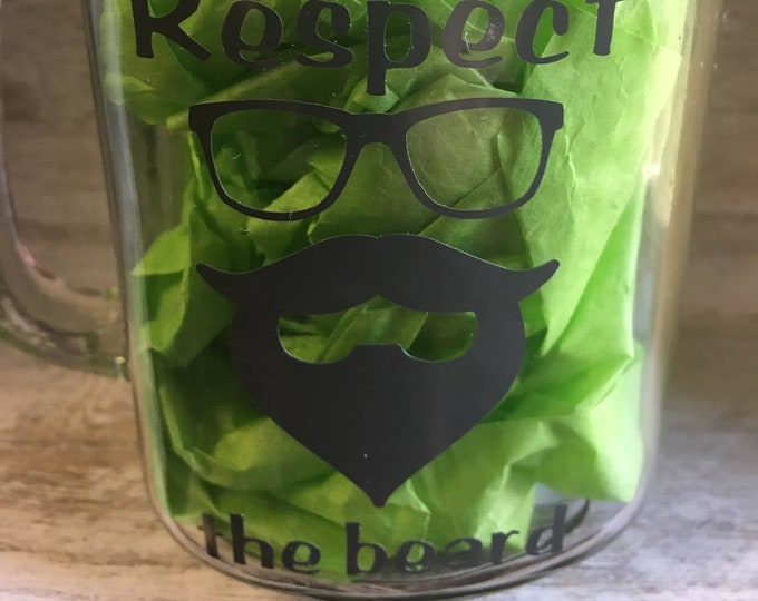 Respect The Beard Beer Mug Free Shipping