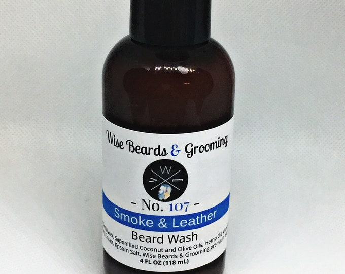4 ounce Beard Wash - Wise Beards & Grooming - Beard Care - Beard Shampoo