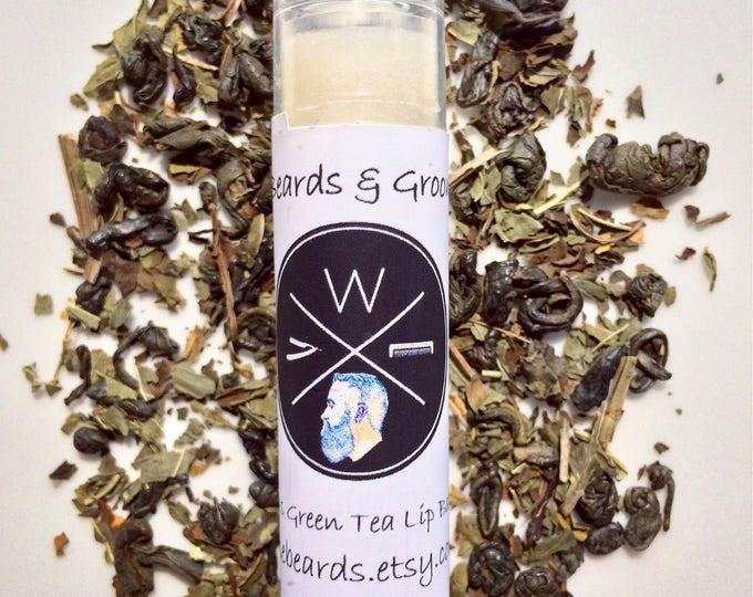 Three Tubes Green Tea Lip Balm - Lip Care - Natural Products - Beeswax Balm - Lip Care - Skin Care - Lip Butter - Moisturizing Lip Balm