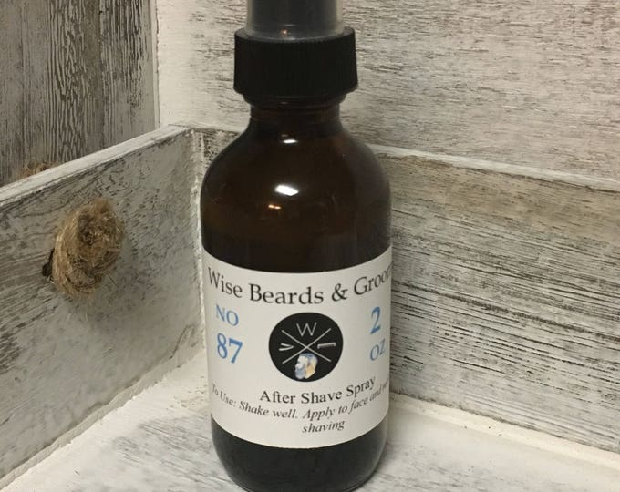 After Shave Spray - Wise Beards & Grooming - Gentle Soothing After Shave - Natural Products