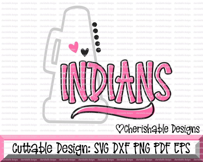 Cheerleader Svg, Indians Cheer Svg, Cheerleader Cutting file, Cheer Mom  Squad svg, dxf pattern, svg pattern, Cricut instant download