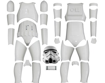 Star Wars Stormtrooper Costume Armour - Original Replica - A New Hope - Kit Version 2 WITH REPLICA HELMET