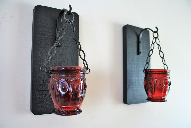 GothicGoth Home witchy Gothic Wall Decor Gift  Chain Candle image 0