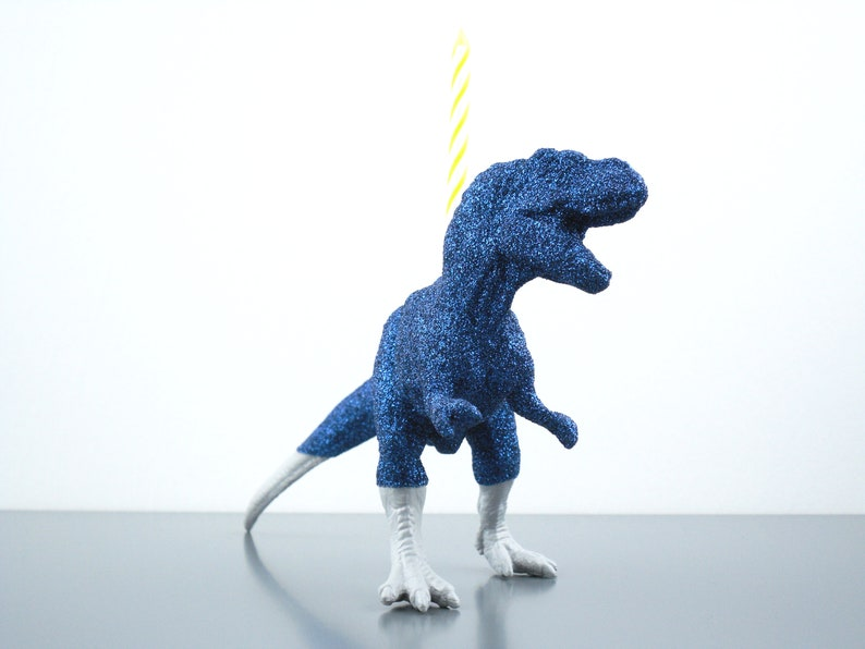 T Rex Birthday Candle Holder Cake Topper Dinosaur