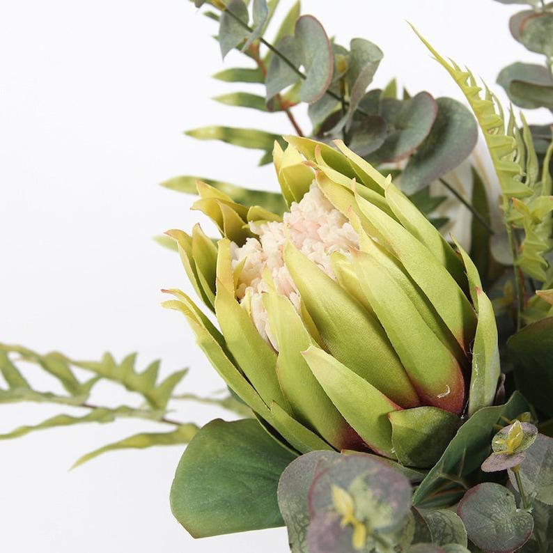 Artificial Protea Cynaroides Flower Stem 26 Tall