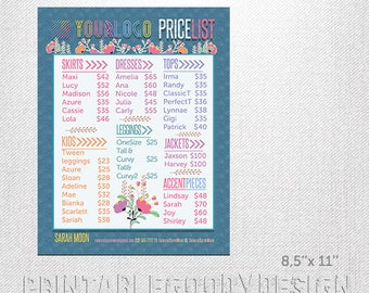 image regarding Lularoe Price List Printable titled Lularoe charge checklist Etsy