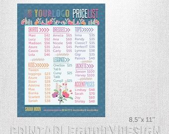 image regarding Lularoe Price List Printable titled Lularoe charge checklist Etsy
