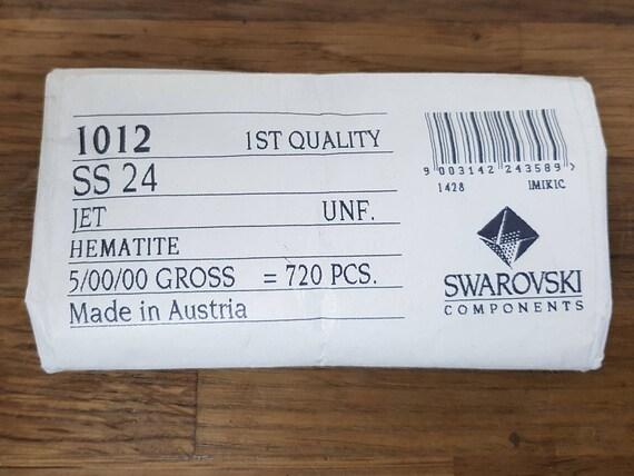 Swarovski vintage 24 chatons ss25 hematite