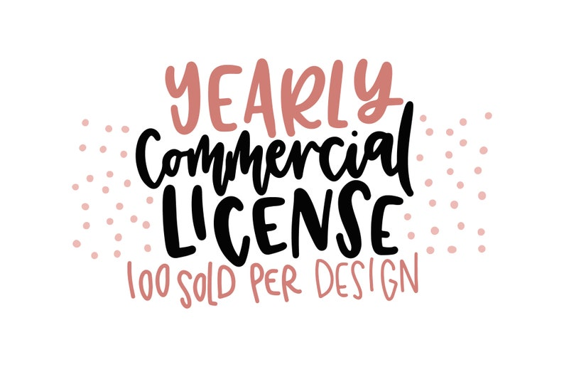 Small Commercial License Yearly Covers all designs on our image 0