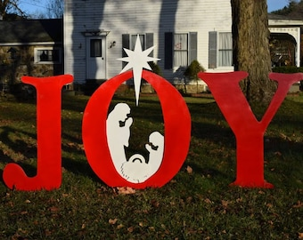 joy christmas nativity yard sign outdoor christmas yard art display wood painted hope nativity outdoor decoration xmas manger yard decor - Christmas Yard Decorations