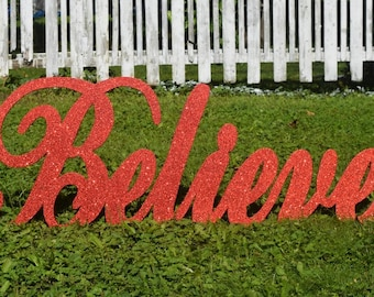 believe christmas yard sign outdoor christmas yard art display wood painted believe yard decor