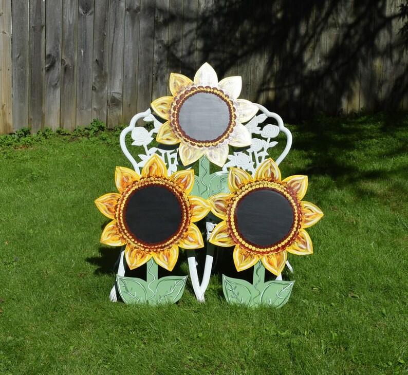 Sonnenblume Tafel Hof Kunst Geht Holz Bemalt Sunflower Garten Etsy