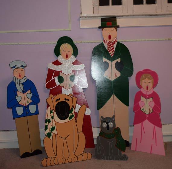 Dickens Era Christmas Carolers Wood Standups Woodworking: Christmas Carolers Yard Decorations