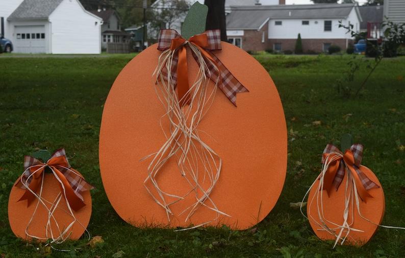 Halloween Decoratie Voor Buiten.Grote Daling Thanksgiving Pompoen 3 Stuk Yard Staak Set Pompoen Gazon Stakes Thanksgiving Outdoor Decoratie Vallen Buiten Tuindecoraties