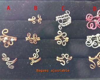 Handmade braided ring. Choose your row