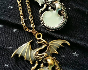 Fluorescent Dragon necklace