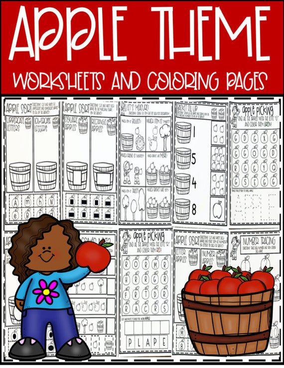 Apple Theme Preschool Worksheets