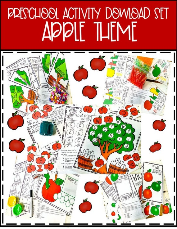 Printable Apple Activity Packet Preschool At Home lesson