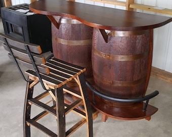 Whiskey Barrel Bar Chairs Sold Seperately - (ask for exact freight quote) & Whiskey barrel chair | Etsy