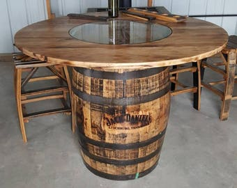 wood barrel furniture. Whiskey Barrel Table, With Jack Daniels Footrest Wood Furniture A