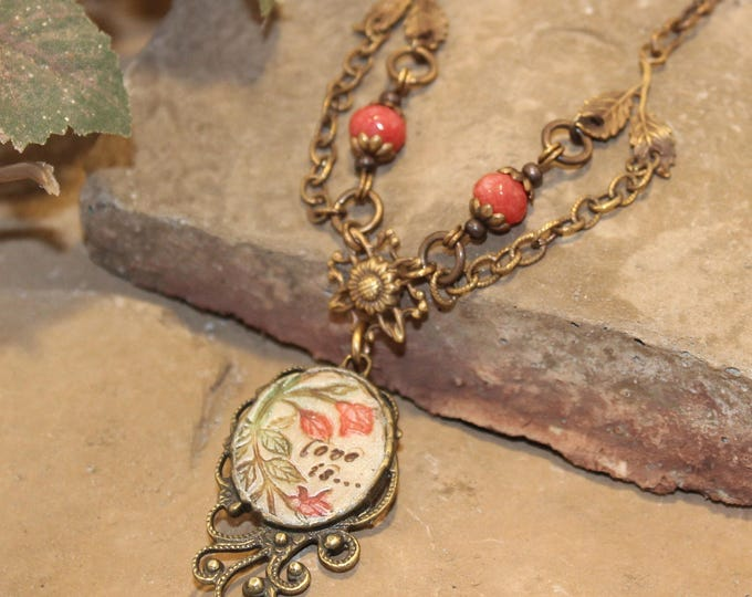 """Love Is...."" Victorian Pendant Necklace"