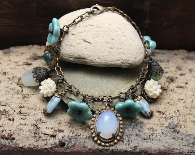 """Give Me The Blues"" Boho Charm Bracelet"