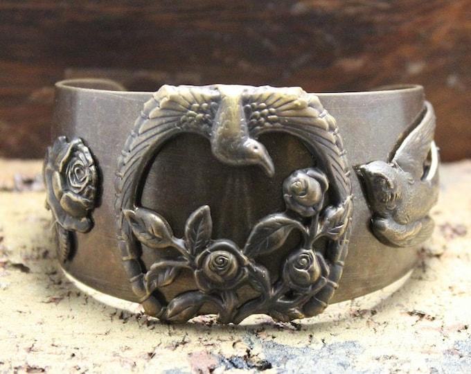 """Garden Gifts"" Brass Cuff Bracelet"