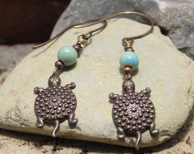 """""""Turtle Tribe"""" Dangle Earrings"""