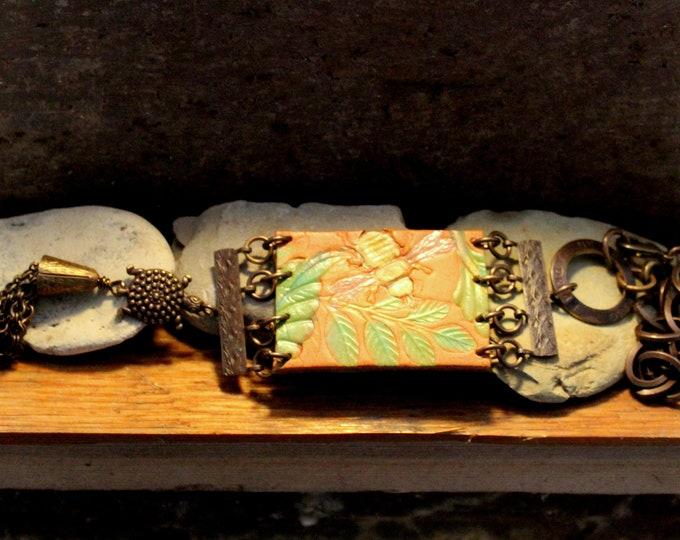 """Woodlands Walk"" Leather Pendant Necklace"