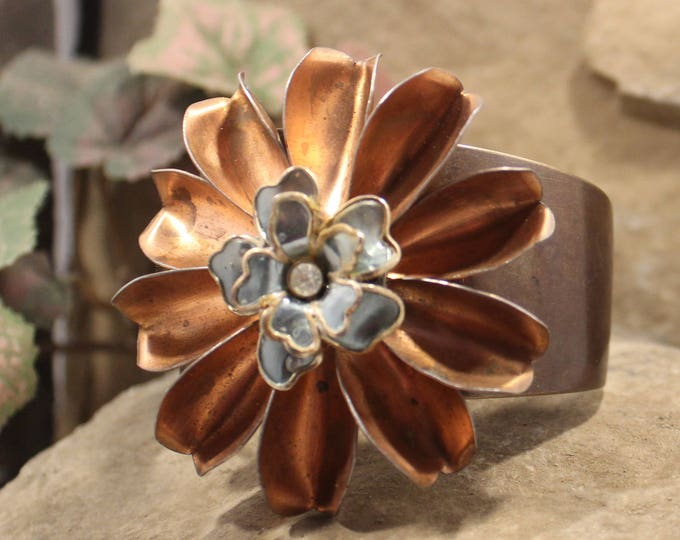"""""""Flower Power"""" Bohemian Cuff Bracelet"""