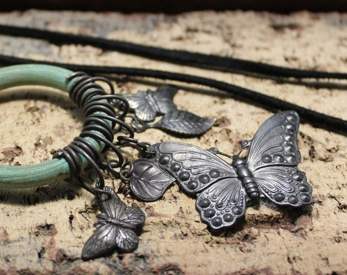 """Social Butterfly"" Charm Necklace"