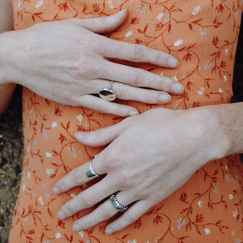 Peace /& Love \u2022 Sterling Silver Ring