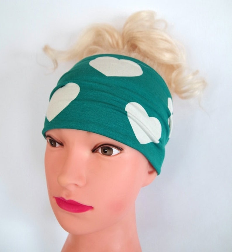 3ceb40c44debb5 Stirnband Jersey Breites Stirnband Grün Haarband Sport Yoga | Etsy