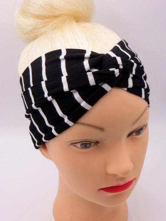 Turban Stirnband gestreift/Turban Stirnband Streifen Schwarz | Etsy
