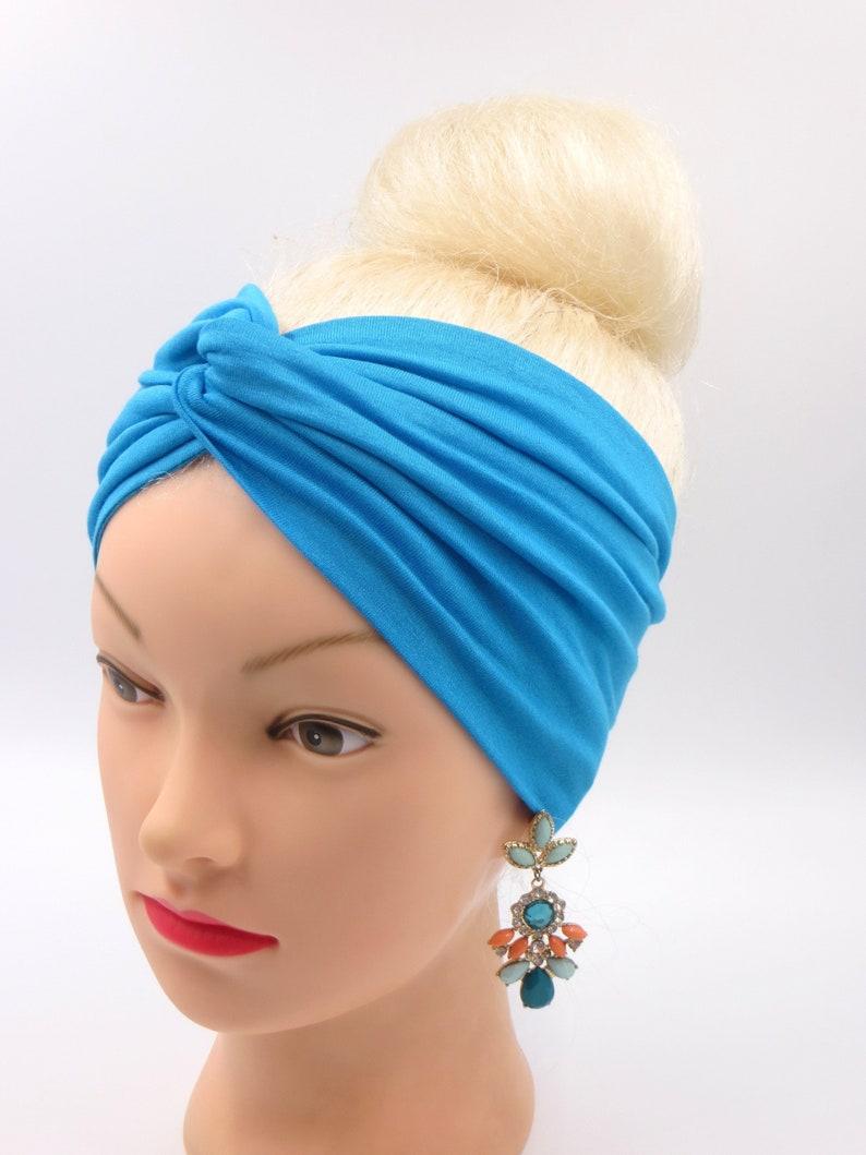 213c5f003ba38b Turban twist Stirnband Jersey türkis Haarband Yoga Stirnband | Etsy