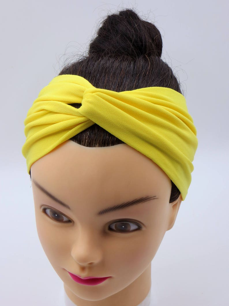 fec21c5a211c63 Gelbes Stirnband Breites StirnbandTurban StirnbandTurban | Etsy